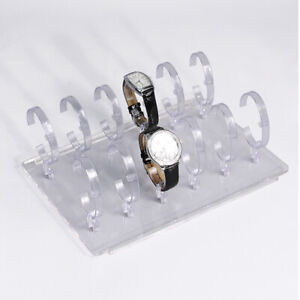 12 Watch Holder Acrylic Display Stand Showcase Countertop Case For 12 Watches