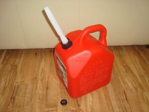 Scepter Red 5 Gallon Vented Flex Spout Gas Can Fuel Storage Tank Container New