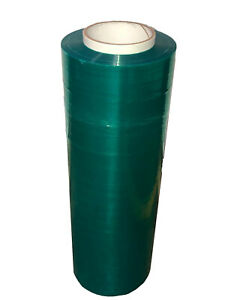 Cast Hand Stretch Wrap Tinted Emerald Green Color 18 X 1500 X 80 Ga 32 Rolls