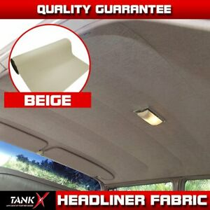 Car Headliner Fabric Material Flexible Backing Sunroof Decoration 85 X 60 Beige