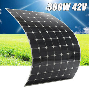 300w 42v Semi Flexible Mono Solar Panel Battery Charger For Rv Boat Roof Car