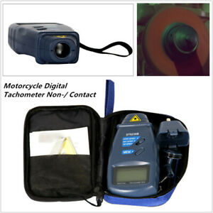 Motorcycle Car Trucks Digital Tachometer Non Contact 2 5 To 99 999 Rpm Counter