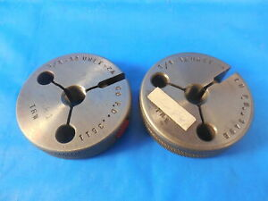 3 8 32 Unef 2a Before Plate Thread Ring Gages 375 Go No Go Pds 3490