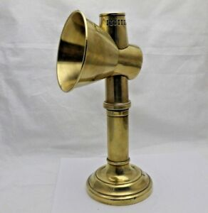 Antique Brass Student Or Lace Makers Reflector Candle Lamp Candlestick