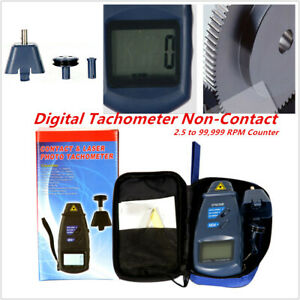 Universal Motorcycle Car Digital Tachometer Non contact 2 5 99 999 Rpm Counter