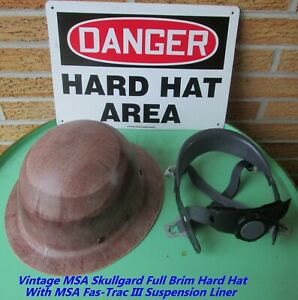 Msa Skullgard Full Brim Hard Hat With msa Fas trac Iii Suspension Liner