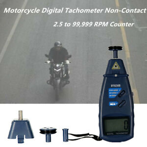 Motorcycle Scooter Car Digital Tachometer Non contact 2 5 To 99 999 Rpm Counter