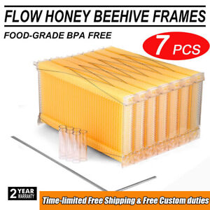 7pcs 2019 Upgraded Auto Bee Honey Hive Beekeeping Beehive Frames Harvesting Usa