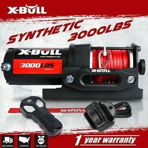 X Bull Electric Winch 10m Synthetic Rope Atv 12v Wireless 3000lbs 1361kgs 4wd