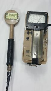 Ludlum Model 3 Geiger Counter With 44 9 Pancake Probe Excellent