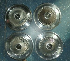 Set Of 4 1968 1969 1970 Ford Thunderbird Turbine Hubcaps