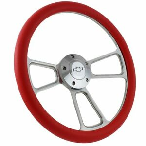 Billet Muscle Chevy Gm 95 01 Steering Wheel Set W Chevy Engraved Horn Gmc Truck