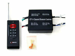 12v Remote Control On off Switch 4 Channel
