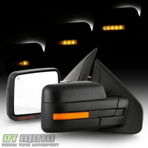 Sequential Led Signal 2004 2006 Ford F150 Power Heated Side Mirrors Left Right