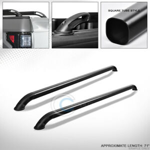 Matte Black Sqaure Bar Truck Bed Side Rails 07 14 Chevy Silverado Gmc Sierra 6 5