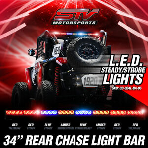 34 Rear Chase Light Bar Off Road Brake Tail Running Lights Rzr Buggy Utv Sxs