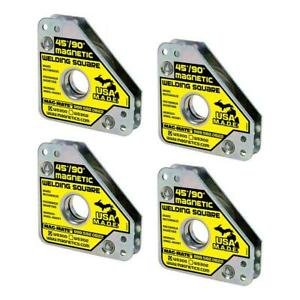Compact Magnetic Welding Square Steel Magnet Welders Sheet Plate Holder 4 Pack