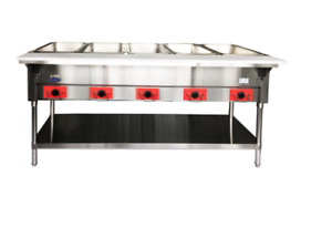New 5 Well Electric Steam Table Dry Bath Heating Pans Nsf Atosa Csteb 5c 9515