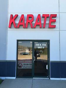 Karate Kung Fu Mma Martial Arts Outdoor Light Up Sign Led Letters