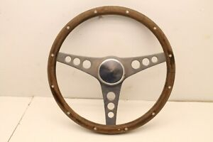 Vintage Grant 13 1 2 Wood Flat Steering Wheel Rat Rod Hot Rod Racecar