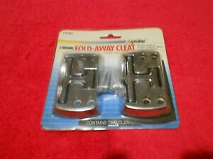 2 Highland Fold Away Cleat Chrome Tie Down Anchors