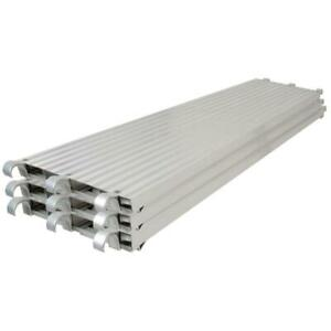 10 Ft X 19 In All Aluminum Platform Scaffold Plank Scaffolding Building 3 Pack