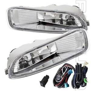 Fit 2003 2004 Toyota Corolla With Switch Bulbs Clear Lens Fog Lights Kit