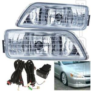For 2006 2007 Honda Accord Sedan 4dr Fog Light Assembly W switch Bulbs Wiring