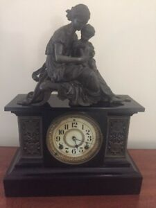 Antique 1882 Ansonia Ny Mantle Clock With Statue Local Pick Up Only