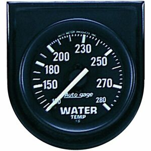 Auto Meter Mechanical Water Temperature Gauge 2 1 16 Dia Black Face 2333