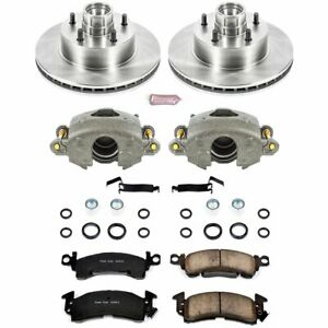 Powerstop Brake Disc And Caliper Kits 2 wheel Set Front For Chevy Olds Kcoe2908