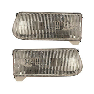 95 01 97 Ford Explorer Mercury Mountaineer Headlights Front Lamps Pair Set