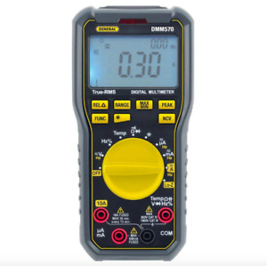 General Tools True Rms Multimeter Digital Ac Dc Current Voltage Auto Range Test