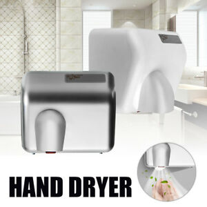 2300w Hand Dryer Wall Mounted Electric Automatic Warm Air Drier Waterproof New