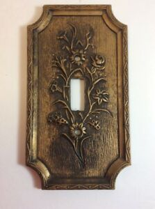 1967 American Tack Hardware Plastic Flowered Decorative Light Switch Cover