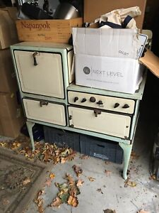 Vintage Gas Stove Gas Fire Place Mantle