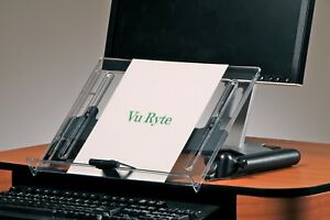 Vu Ryte Adjustable Document Copy Holder In line With Monitor Vur 14dc