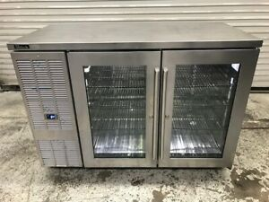 2 Glass Door Back Bar Beer Display Cooler 52 Refrigerator Perlick Bbsn52 9516