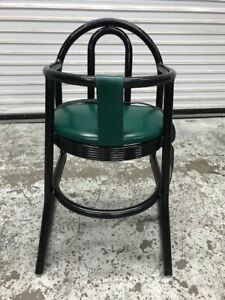 Childs High Chair Metal Base Padded Seat Commercial Restaurant Seating 9520