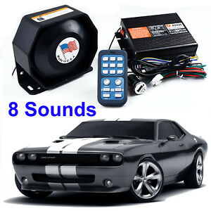 Ascent 200w Siren Horn Loud Speaker Pa Mic System Car Safety Warning Alarm 8tone