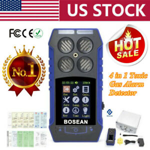 4 In1 Gas Detector Monitor 2 4 Lcd Ex Co O2 H2s Oxygen Gas Analyzer Alarm Meter