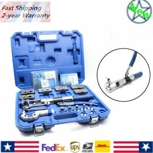 Steel Hydraulic Pipe Expander Kit Pipe Fuel Line Flaring Tool Set Us Stock
