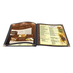30 Pcs 8 1 2 In X 11 In 6 View Restaurant Menu Cover Durable Pvc Attractive