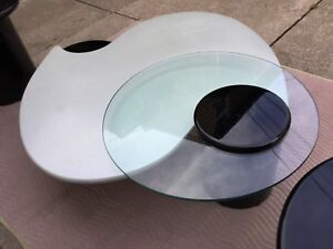 Contemporary Modern Coffee Table Set Side End Tables Atomic Ranch Split Level