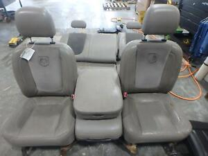 02 05 Dodge 1500 2500 3500 Front Rear Seat Grey Leather Power Heated