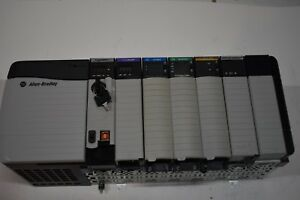 Allen Bradley Controllogix Loaded 7 Slot Rack Complete System With 1756 l72