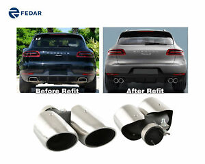 Fits Porsche Macan All Models Stainless Steel Exhaust Muffler Tailpipe Tip
