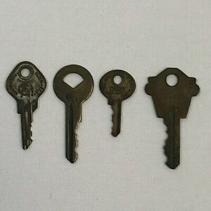 Vintage Lot Of 4 Curtis Key Co Keys Bulldog Wk2 M 2 H26 Used