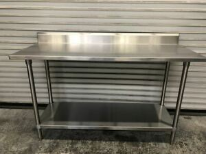 60 X 24 All Stainless Steel Work Food Prep Table Commercial Nsf Tabco 9528