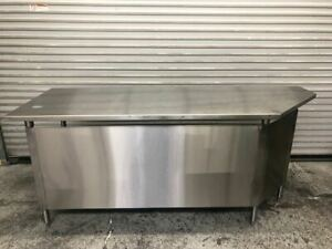 84 X 30 All Stainless Steel Work Table Prep Station Commercial Nsf Tabco 9530